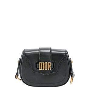 Dior Black Leather  D-Fence Saddle Shoulder Bag