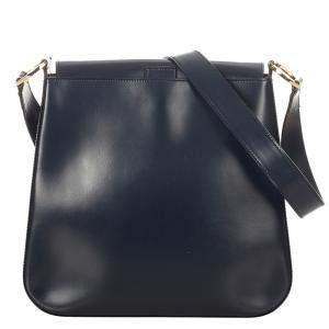 Dior Navy Blue/Blue Leather Shoulder Bag