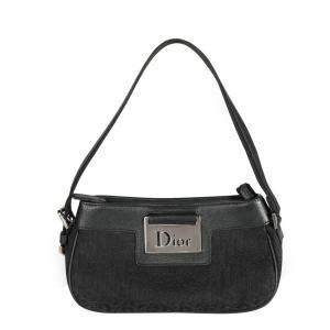 Dior Black Canvas Trotter Pochette Bag