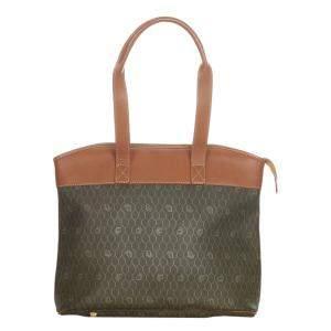 Dior Brown/Dark Brown Vintage Honeycomb Tote Bag