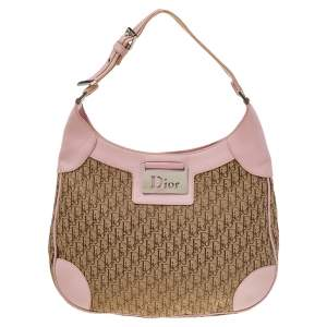 Dior Pink/Beige Diorissimo Canvas And Leather Hobo