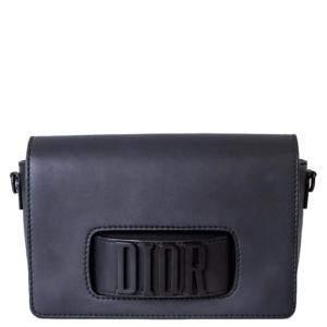 Dior Black Leather Dio(r)evolution Flap Bag
