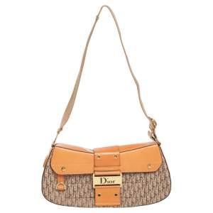 Dior Tan/Beige Oblique Canvas and Leather Street Chic Shoulder Bag