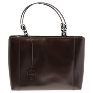 Dior Dark Brown Leather Malice Tote