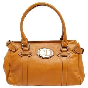 Dior Tan Leather Satchel