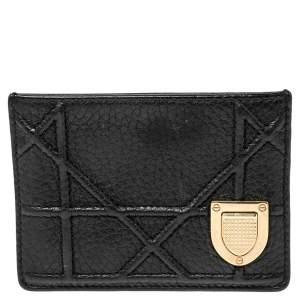 Dior Black Leather Diorama Card Holder