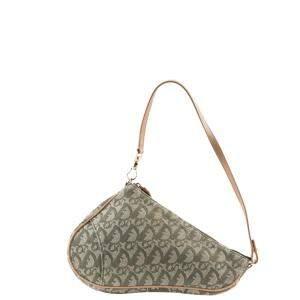 Dior Olive Green Trotter Canvas Saddle Bag