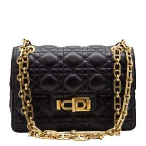 Dior Black Cannage Leather Miss Dior Bag