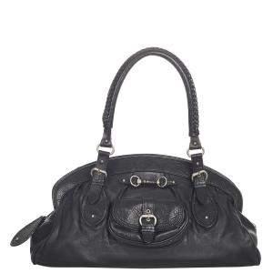 Dior Black Calf Leather My Dior Frame Satchel