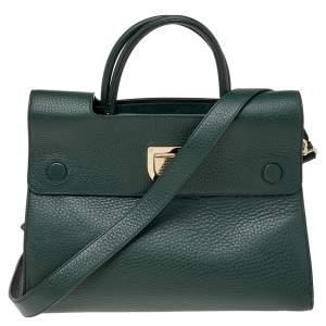 Dior Green Leather Medium Diorever Bag