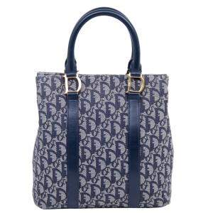 Dior Blue Trotter Canvas Tote Bag