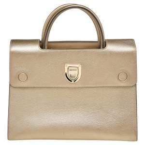 Dior Metallic Gold Leather Medium Diorever Bag