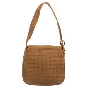 Dior Beige Cannage Fabric Vintage Shoulder Bag