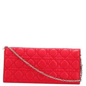 Dior Red Calf Leather Shoulder Bag