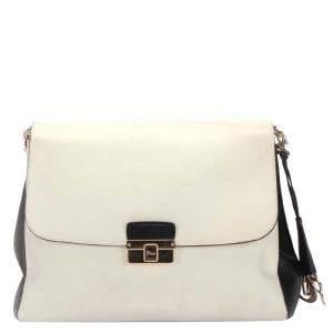 Dior White Calf Leather Shoulder Bag