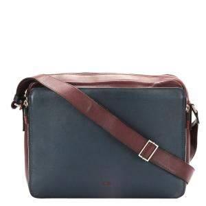 Dior Blue Calf Leather Shoulder Bag