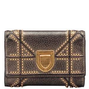 Dior Black Leather Diorama Wallet