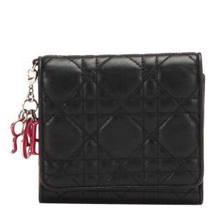 Dior Black Cannage Leather Wallet