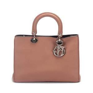 Dior Brown Leather Medium Diorissimo Tote Bag