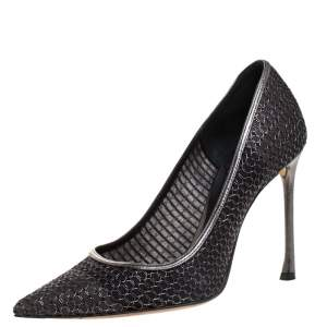 Dior Metallic Mesh Pointed Toe Pumps Size 37