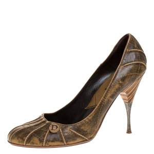 Dior Brown Leather Pumps Size 40