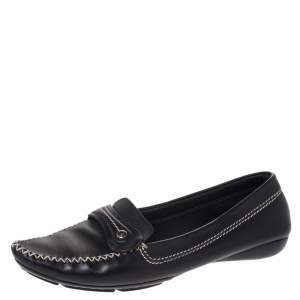 Dior Black Leather Loafers Size 41.5