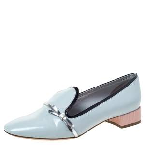 Dior Blue Leather Bow Ballet Flats Size 36