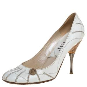 Dior White Leather Pumps Size 36