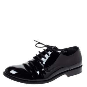 Dior Black Patent Leather Lace Up Derby Size 34
