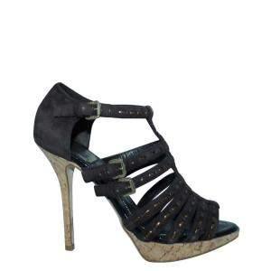 Dior Black Leather  Sandals Size 36