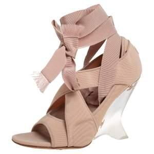Dior Beige Neoprene Etoile Sandals Size 38