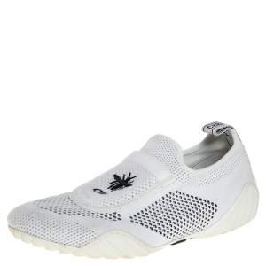 حذاء رياضى ديور سليب أون دى فيانسيه قماش تريكو ستريتش أسود / أبيض مقاس 37.5