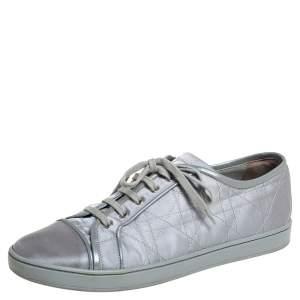 Dior Grey Satin Cap Toe Low Top Sneakers Size 39