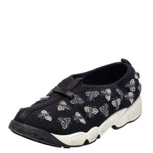 Dior Black Mesh Bee Fusion Sneakers Size 38