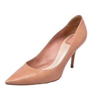 Dior Beige Leather Pointed Toe Pumps Size 40