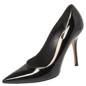 Dior Black Patent Leather Pointed Toe Pumps Size 36.5