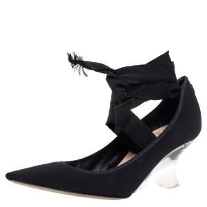 Dior Black Fabric Etoile Pumps Size 39.5