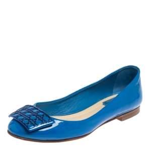 Dior Blue Patent Leather Ballet Flats Size 38