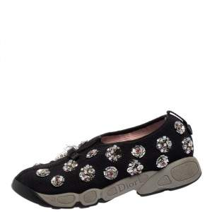 Dior Black Mesh  Fusion  Sneakers Size 36.5