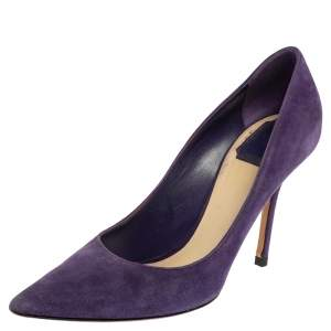 Dior Purple Suede Pointed Toe Pumps Size 39