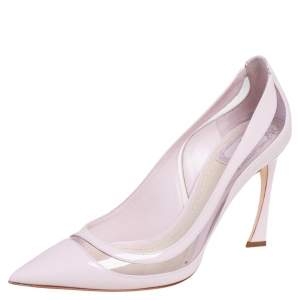 Dior Pink Patent Leather and PVC Pointed Toe Pumps Size 39.5