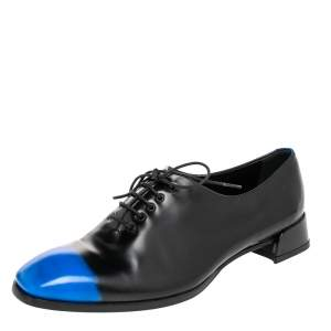 Dior Black/Blue Leather Laceup Oxford Size 37.5