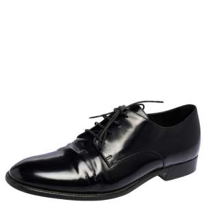 Dior Black Patent Leather Lace Derby Size 38
