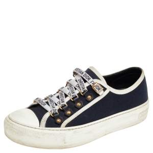 Dior Blue/White Walk'n'Dior Low Top Sneakers Size 36.5