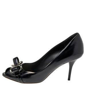 Dior Black Leather Bow Pumps Size 36.5