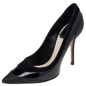 Dior Black Leather Pointed Toe Pumps Size 36