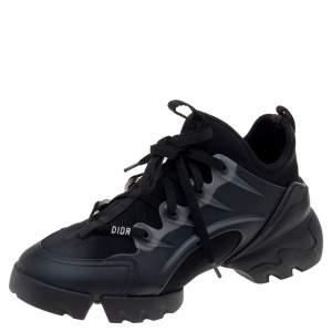 حذاء رياضي ديور دي كونكت جلد ونيوبرين أسود بعنق منخفض مقاس 38.5