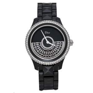 ساعة يد نسائية ديور VIII Placed Vendome Grand Bal CD124BE3 ألماس سيراميك سوداء 38 مم
