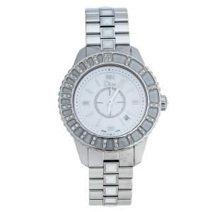 ساعة يد نسائية ديور شريستال سي دي113112-في ألماسات ستانلس ستيل بيضاء 33 مم
