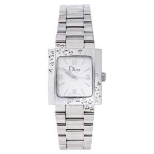 Dior SIlver Stainless Steel Diamond Riva D98-1014 Women's Wristwatch 24.50 mm